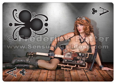 The Sensual Goddess Erotic Art Cards playing card deck - Ace of Clubs