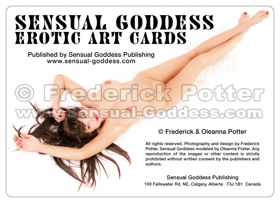 The Sensual Goddess Erotic Art Cards playing card deck - Promo Card